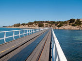 Old pier at Granite Island Victor Harbor — Stock Photo