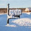 Mailbox deep in snow — Stock Photo