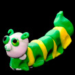 Plasticine caterpillar. — Stock Photo