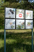 The poster in National park Curonian Spi — Stock Photo