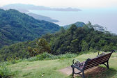 Bench on a hill — Stock Photo