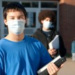 Swine flu at school — Stock Photo #1020029