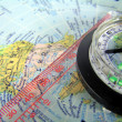 Royalty-Free Stock Photo: Compass on map