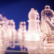 Knight in focus on chess board — Stock Photo #1022324