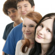 Ethnic teen friends smiling — Stock Photo #1026096