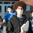 Swine flu at school — Stock Photo