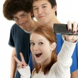 Ethnic teen friends - Stockfoto