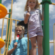 Cooling down st the playground — Stock Photo #1026214