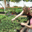 Friends at the greenhouse — Stock Photo