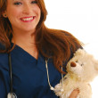 Smiling pediatric nurse — Stock Photo
