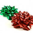 Royalty-Free Stock Photo: Red and green bows