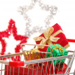 Royalty-Free Stock Photo: Christmas shopping side view