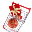Christmas shopping top view — Stock Photo #1029044