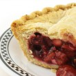 Stock Photo: Berry pie close