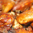 Stock Photo: Closeup of BBQ chicken