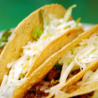 Tacos with refried beans — Stock Photo
