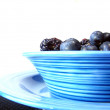 Bowl of black and blue — Stock Photo