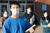 Swine flu at school — Stock Photo