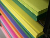 Colored copy paper — Stock Photo