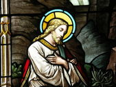 Christ in stained glass — Stock Photo