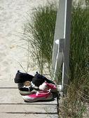 Op het strand — Stockfoto