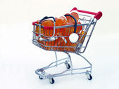 Shopping for health care (side view) — Stock Photo