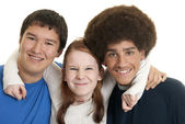 Ethnic teen friends — Stock Photo