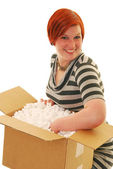 Happy delivery — Stock Photo