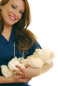 Pediatric nurse — Stockfoto