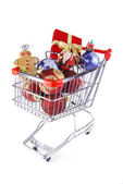 Christmas shopping for fun — Stockfoto