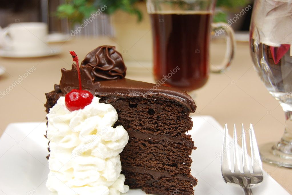 chocolate cake coffee