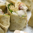 Chicken salad wraps — Stock Photo