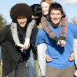 Ethnic teen friends - Stock Photo