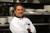 Smiling chef — Stock Photo