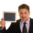 Blank chalkboard - Stock Photo