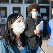 Swine flu at school - Stockfoto