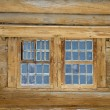Fragment of an old wooden house — Stock Photo