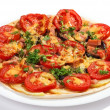 Tasty pizza isolated on white — Stock Photo #1023112