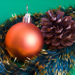 Christmas sphere — Stock Photo