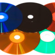 Colored compact disks — Stock Photo