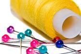Cívek barevných vláken — Stock fotografie