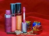 Decorative female cosmetics — Stock Photo