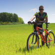 Bike tourist — Stock Photo