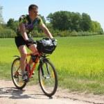 turistico di bici — Foto Stock