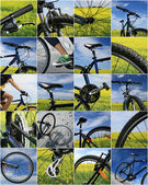 Fahrrad-collage — Stockfoto