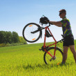 Stockfoto: Bike tourist