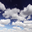 Stock Photo: White cumulus clouds