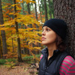 Woman in the forest — Stock Photo