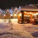 Winter time christmas landscape — Stock Photo