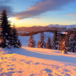 Evening in mountains - Stock Photo